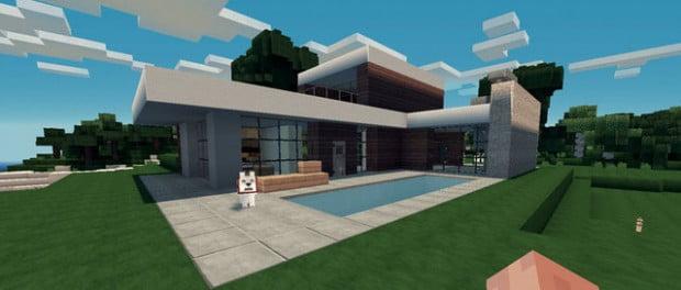 Planos para una casa moderna minecraft for free for Casas modernas grandes minecraft