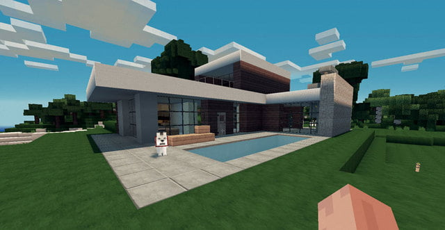 Minecraft Modern House Schematic Blueprint minecraft huis