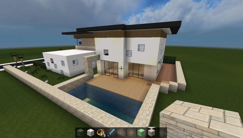 minecraft huis - 496 achterkant