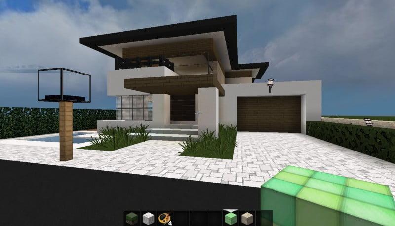 Minecraft huis nog een toevoeging voor een mooie stad for Modern house map