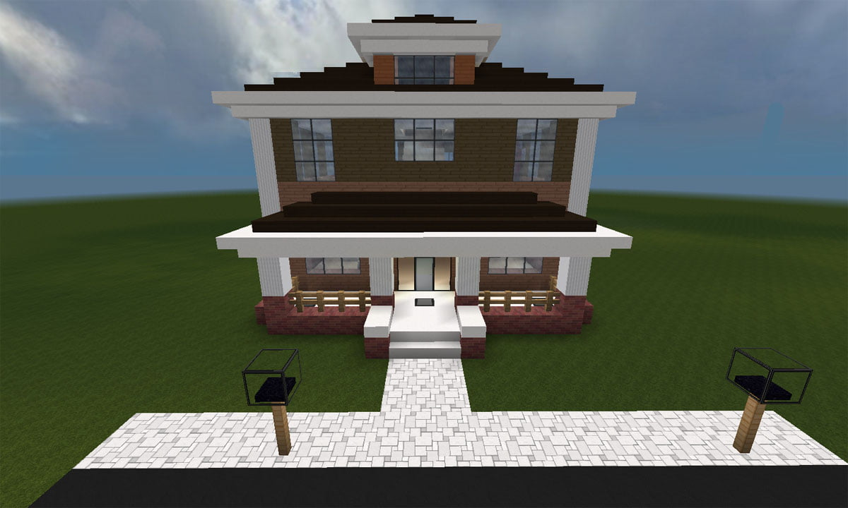 Minecraft Huis Country House 461 Met Mapdownload on Minecraft House Blueprints